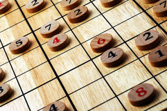 Numbers. Wooden numbers, random choice. Lucky concept Stock Photography