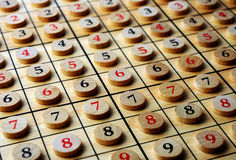 Numbers. Wooden numbers in order . Lucky concept Royalty Free Stock Image