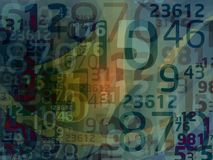 Numbers. Dark abstract numbers background illustration Royalty Free Illustration
