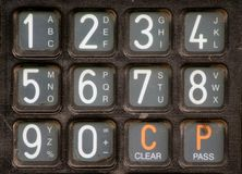 Numbers. Keypad with numbers and letters Royalty Free Stock Images