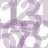 Numbers. Group of numbers arranged on white background Stock Photos
