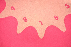Numbers. Detail of wall clock,nubers on pink background Royalty Free Stock Photography