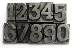 Numbers. Lead letters numbers on white Royalty Free Stock Image