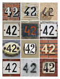 Numbers 42 Royalty Free Stock Photo