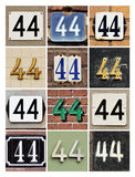Numbers 44 Stock Image