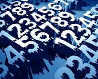 Numbers. 3D numbers,3D digital art Stock Photos