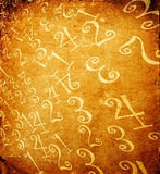 Numbers. Abstract color numbers, 2D art Royalty Free Stock Images