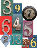 Numbers. Different types of arabian numbers stock photo