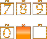 Numbers. Funny numeric digits in white background Stock Images