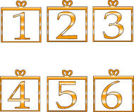 Numbers. Funny numeric digits in white background Stock Image