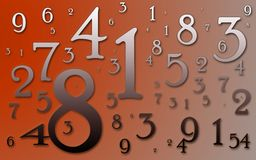 Numbers. A bunch of numbers arranged randomly Royalty Free Stock Images