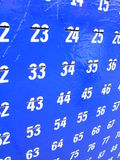 Numbers. Numbers and slots Royalty Free Stock Images