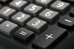 Numbers. Macro shot of a calculator showing numbers from one to nine Royalty Free Stock Photo