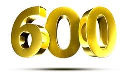 Numbers 600 3d. Stock Photos