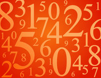 Numbers. Et of randomly numbers in different size Royalty Free Stock Photos