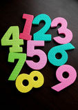 Numbers. Colorful Numbers Royalty Free Stock Photo