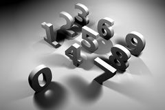 Numbers. 3D Numbers 0-9 vector illustration