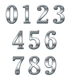 Numbers. Chrome plated numbers to use general Stock Photography