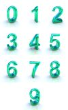 Numbers. Signs isolated on white Stock Photography