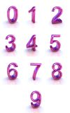 Numbers. Signs isolated on white Royalty Free Stock Images