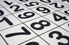 Numbers. Floor Tiles Royalty Free Stock Images