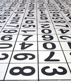 Numbers. Floor Tiles Stock Photography