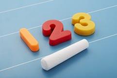 Numbers. On blackboard Stock Photography