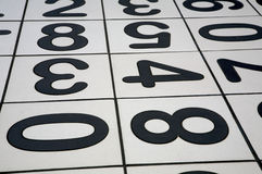 Numbers. Floor Tiles Royalty Free Stock Photography