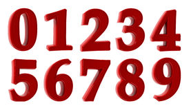 Numbers. Represented on a white background. 3d the image Stock Images