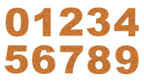 Numbers. Made of wheat grains Royalty Free Stock Images