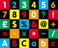 Numbers. 1-10 plus other common letters Stock Image