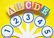 Numbers and alphabet Stock Photography