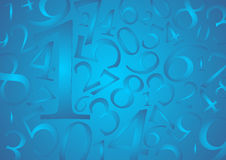Free Numbers Background Royalty Free Stock Image - 12434096