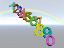 Numbers Background Royalty Free Stock Photos