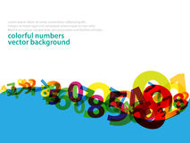 Numbers background stock illustration