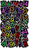 Numbers background royalty free illustration