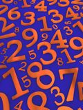 Numbers background Stock Photography