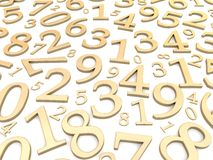Numbers background Stock Images