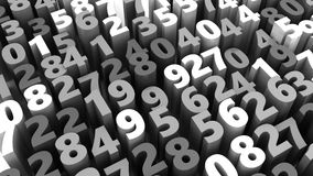 Numbers background. Abstract 3d illustration of random numbers background Royalty Free Stock Photos