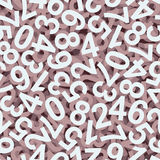 Numbers background colorful - endlessly. Seamless abstract background with white colored numbers Royalty Free Stock Image