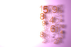 Numbers background many numbers Stock Photo