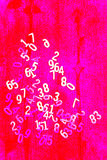 Numbers on background red, magenta, white and pink. Numbers on  background red, pink, magenta, white Royalty Free Stock Images