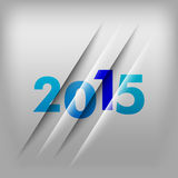 Numbers Background 2015. Simple gray background with blue numbers 2015. New Year Design stock illustration