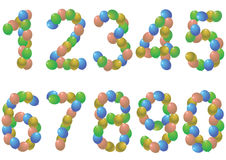 Numbers balloons Royalty Free Stock Photography