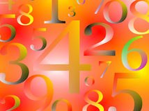 Numbers bbackground Stock Photos