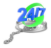 Numbers in bear trap Stock Photos