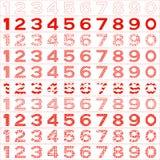 Numbers big set Royalty Free Stock Image
