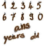 Numbers and birthday Royalty Free Stock Photos