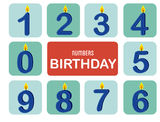 Numbers birthday. Over white background  illustration Royalty Free Stock Images