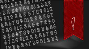 Numbers on black chalkboard Royalty Free Stock Image
